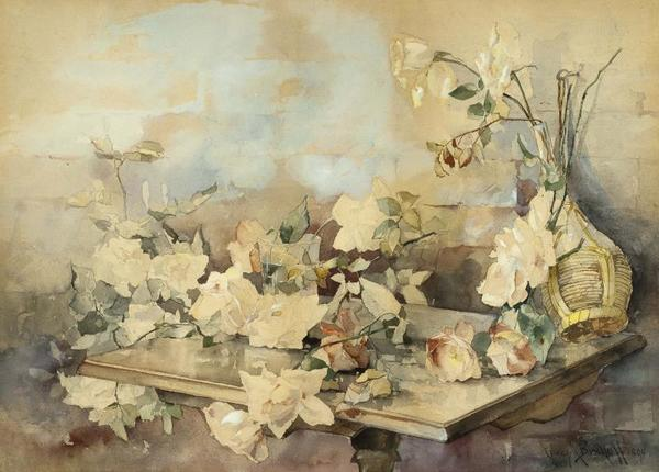Franz A. Bischoff - Still-Life With Roses border=