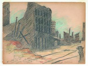 Title: Ruins-Central Trust-Lick House looking up Sutter , Date: 1906 , Size: 8 3/4