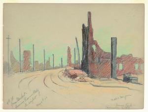Title: Ruins-James Lick-Pioneer Building 4th Street from Market , Date: 1906 , Size: 8 3/4
