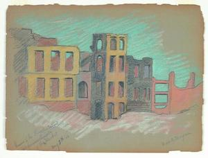 Title: Ruins of the Lincoln School 5th and Market , Date: 1906 , Size: 8 3/4