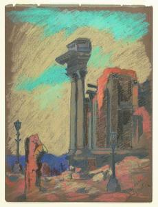 Title: Ruins-City Hall looking west , Date: 1906 , Size: 11 3/4