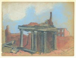 Title: Ruins of Occidental Hotel , Size: 8 3/4