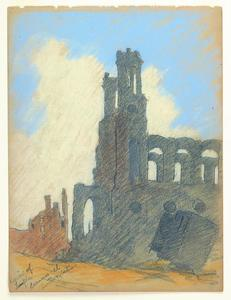Title: Ruins of Temple Emanu-el, Sutter & Stockton , Date: 1906 , Size: 11 3/4
