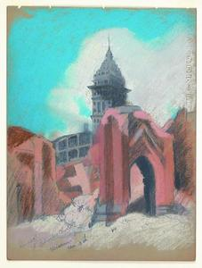 Title: Ruins of St. Patrick's Church, Mission Street near Third , Date: 1906 , Size: 11 3/4