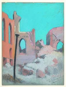 Title: Ruins of interior of St. Patrick's Church, Mission St. and Third , Date: 1906 , Size: 11 3/4