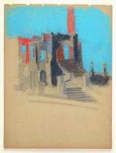 Title: Ruins of the 1906 San Francisco Earthquake and Fire , Date: 1906 , Size: 11 3/4