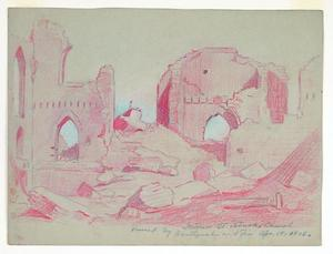 Title: Ruins-interior of St. Patrick's Church , Date: 1906 , Size: 8 3/4