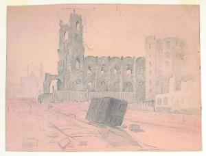 Title: 1906 ruins, San Francisco Earthquake and Fire , Date: 1906 , Size: 8 3/4