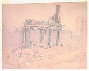 Title: Ruins-San Francisco, 1906 Earthquake and Fire , Date: 1906 , Size: 8 3/4