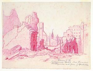 Title: Ruins of the California Hotel , Date: 1906 , Size: 8 3/4