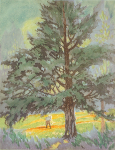 Title: Man in a Forest Glen , Size: 11