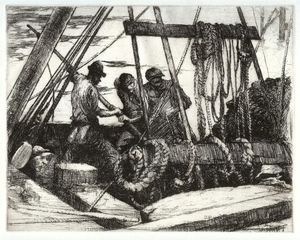 Title: [Men at Rigging] , Date: 1930 , Size: 7 7/8